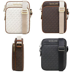 Michael Kors Jet Set Travel Signature Medium Flight Bag Crossbody $77.48