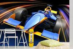 3d F1 Sports Car S334 Transport Wallpaper Mural Self-adhesive Removable Sunday