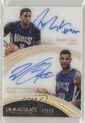 2015-16 Panini Immaculate Dual /49 Rudy Gay Willie Cauley-stein 38 Rookie Auto