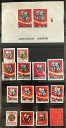 1965 Conference Of Postal Ministers Marx Lenin New Stamps 12 Countries