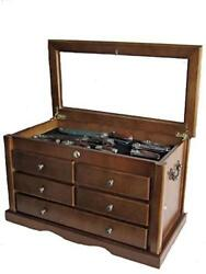 Knife Display Case Storage Cabinet With Shadow Box Top Tool Box Kc07-wal
