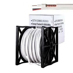 RG59 Siamese Coaxial Cable Camera CCTV 250ft 500ft 1000ft 20AWG 18 2 Security