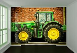 3d Green Tractor T92 Transport Wallpaper Mural Self-adhesive Removable Sunday