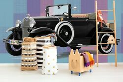 3d Ford Antique Black T086 Transport Wallpaper Mural Self-adhesive Removable Su