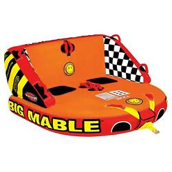 Sportsstuff Inflatable Big Mable Sitting Double Rider Towable Boat And Lake Tube