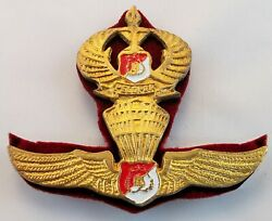 Indonesia National Police Mobile Brigade Corps Brimob Airborne Wings Pin Badge