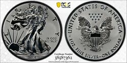 2019-s American Eagle One Ounce Silver Enhanced Reverse Proof Coin [pcgs Pr69]
