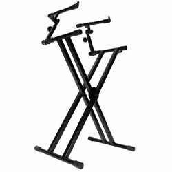 On-stage Ks7292 Double -x Ergo-lok Keyboard Stand With 2nd Tier