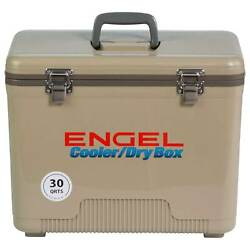 Engel 30 Quart 48 Can Leak Proof Compact Insulated Airtight Drybox Cooler Tan $69.99