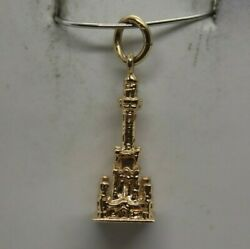 14k Yellow Gold Old Chicago Water Tower Charm/pendant 3.3g