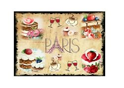 Paris Cafe Signs Reproduction Metal Antique Style Vintage Print Style Wall Sign