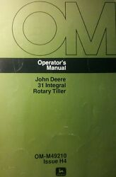 John Deere 110 112 Lawn Garden Tractor 30 And 31 Tiller Owner And Parts 2 Manual S