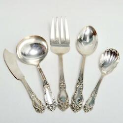 Set Of Five 5 Reed And Barton Silver Plate Tiger Lily Serving Pieces