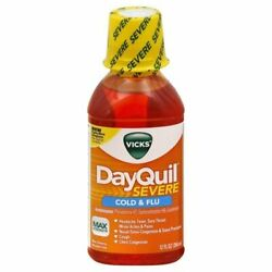 Vicks Dayquil Severe Cold And Flu Relief Liquid 12 Oz Pack Of 12