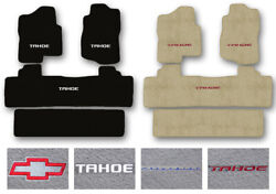 3-row Carpet Floor Mat Set For 2000-2020 Chevrolet Tahoe - 2nd Row Bench Seating