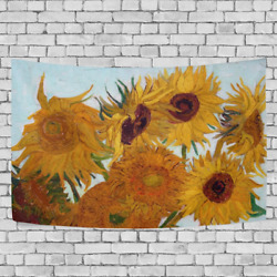 JSTEL Van Gogh Sunflower Tapestry Wall Hanging Decoration for Apartment Home 60