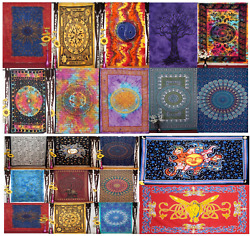 Navya Creations Wholesale Lot 10 PC Psychedelic Tapestry Bohemian Assorted Dorm