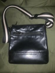 Designer Black Thick Leather Bag From Bally