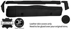 Black Stitch Dashboard 5 Piece Leather Covers Kit For Land Rover Series 2 2a 3