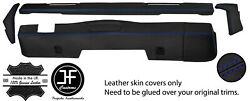 Blue Stitch Dashboard 5 Piece Leather Covers Kit For Land Rover Series 2 2a 3