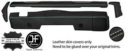 White Stitch Dashboard 5 Piece Leather Covers Kit For Land Rover Series 2 2a 3