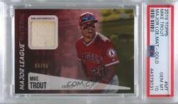 2019 Topps Major League Material Relics Series 2 Gold /50 Mike Trout Psa 10