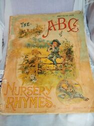 The Abc Of Nursery Rhymes Mcloughlin Brothers New York Circa 1890 Linen Bound