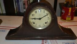Vintage Ansonia Mantel Wood Clock For Parts Or Restoring
