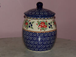 Polish Pottery 3 L Coffee/cookie Canister Unikat Signature Exclusive Zoey
