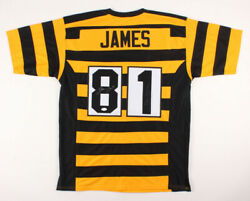 Jesse James Signed Pittsburgh Steelers Jersey Inscribed The Outlaw Jsa Coa