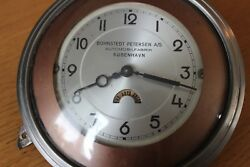 Extremely Rare 1930's Chrysler Vintage Dashboard Clock. Moving Advertising Dial