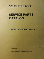 New Holland 851 Round Hay Baler Implement Parts Catalog Manual Agricultural Farm