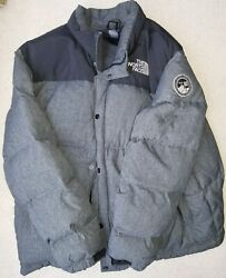 The North Face Men's Puffer Winter Goose Down Coat Quilted Jacket XXL