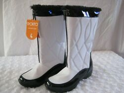 Sporto Life With Style Size 7-1/2 Wide/white Ellen Fleece-lined Bootsnwt