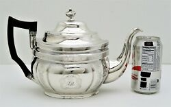 Early American Silver Teapot With Wood Handle With Marked Wishart 1810