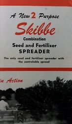 Skibbe Mfg Co Seed And Fertilizer Spreader Farm Tractor Sales Brochure Manual