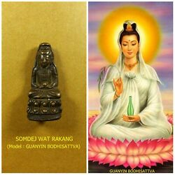 Antique Rare! TOP AMULET of THAILAND (of ASIA) Guanyin Buddha Statue Pendant #11