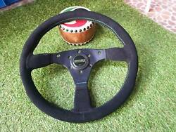 Rare Techni Crafts Suede Steering Wheel With Skid Racing Horn Skyline R32 Gtr