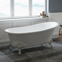 61 Cast Iron Clawfoot Slipper Tub Without Faucet Holes- Chariton