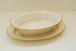 Noritake Tulane 11 5/8 Inch Platter And 10 Inch Oval Vegetable Bowl