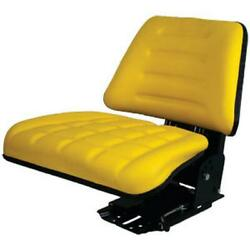 Tf222yl Yellow Back Flip Up Seat Fits John Deere And Several Other Tractors