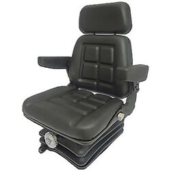 Vam8110 Universal Fit Tractor Black Vinyl Tractor Seat Assembly Kit