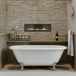 66 Cast Iron Double Ended Clawfoot Bathtub Without Faucet Holes- Vernon