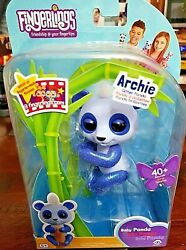Wowwee Fingerlings Glitter Baby Panda Archie Blue Interactive 40+ Sounds   A11
