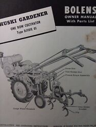 Bolens Huski Gardener Tractor Cultivator Implements Owner And Parts 7 Manual S