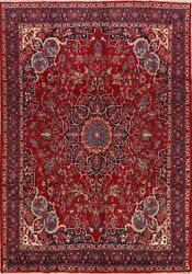 Vintage Floral Bidjar Hand-knotted Area Rug Dining Room Oriental Carpet 7and039x10and039