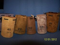 Custom Made Leather Muzzleloader/ditty/ammo Coin/bullet Bag
