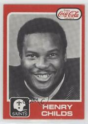 1979 Topps Coca-cola New Orleans Saints Henry Childs 42