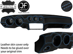 Blue Stitch Dash Dashboard Real Leather Cover Fits Datsun 260z 2+2 Jf2