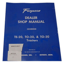 48fdsm Fits Ferguson Shop And Service Manual For Tractor Te20 To20 To30